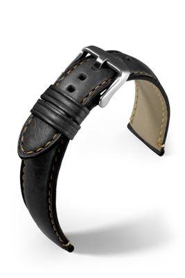 Uhrenarmband Florenz Rinderleder mit Kontrastnaht