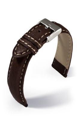 Uhrenarmband Imola Lederband mit Naht extra lang