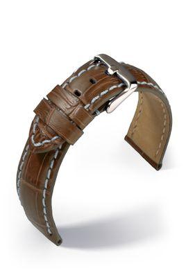 Uhrenarmband Guinea Chrono Lederband Krokodil-Optik