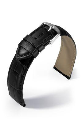 Uhrenarmband Guinea Lederband Louisiana-Kroko Optik auf Kalbleder