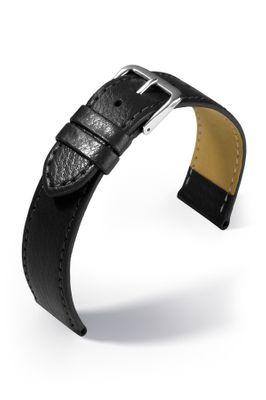 Uhrenarmband Kansas Lederband flach extra lang