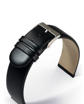 Uhrenarmband Leder schwarz