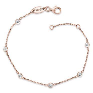 Engelsrufer Armband Moonlight mit 6 weißen synth. Zirkonia 925er-Sterlingsilber rosé-vergoldet 16 + 2cm