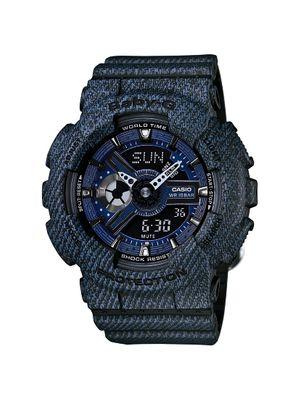 Casio Damen-Armbanduhr Baby-G Digital Quarz Jeans-Look schwarz-blau BA-110DC-2A1ER