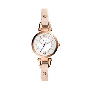 Fossil Damen-Armbanduhr Georgia Analog Quarz Leder beige ES4340