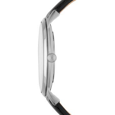 Fossil Herren-Armbanduhr The Minimalist 3H Analog Quarz Leder schwarz FS5398