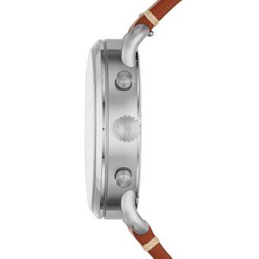Fossil Herren-Armbanduhr The Commuter Chrono Chronograph Quarz Leder braun FS5401