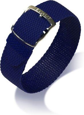 Perlon Uhrenarmband Durchzugsband blau 20mm