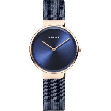 BERING Damen Uhr ultra slim design watch Milanaise Saphir Edelstahl rosé 14531-367