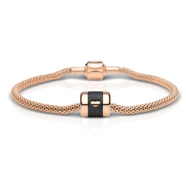 BERING Damen-Armband Arctic Symphony Collection Valentine's Day-Set Edelstahl rosé