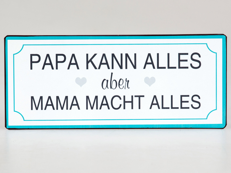 Deko-Metallschild mit Spruch 30x13cm Papa kann alles ...