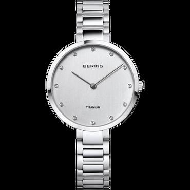 BERING Damen-Armbanduhr Analog Quarz Titan 11334-770