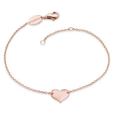 Engelsrufer Damen-Armband Herz Summer 925 Sterlingsilber rosé-vergoldet 16+2cm ERB-LILHEART-R