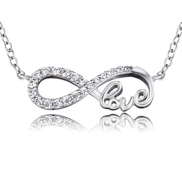 Engelsrufer Damen-Kette Infinity Little Magic 925 Sterlingsilber rhodiniert Zirkonia  ERN-LILINFINITY-LOVE