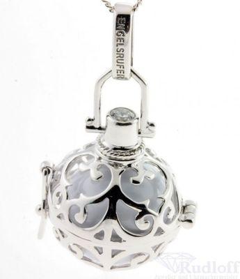 Engelsrufer Angänger Silber mit Klangkugel ER-01-M  weiß, mittel (20mm)