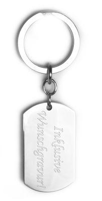 Schlüsselanhänger Dog-Tag inkl. Wunsch-Gravur