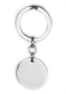 Schlüsselanhänger Gravurplatte rund 30mm inkl. Wunsch-Gravur