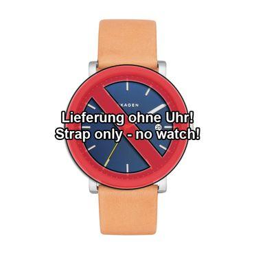 Uhrenarmband für Skagen Hagen SKW6279 Wechselband Ersatzband Leder beige