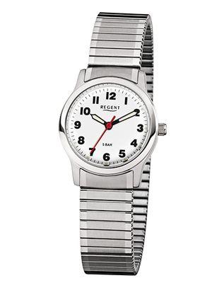 Regent Damen Armbanduhr Analog Quarz mit Edelstahl-Zugband 7978.44.99