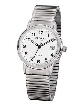 Regent Armbanduhr Analog Quarz mit Edelstahl-Zugband F705