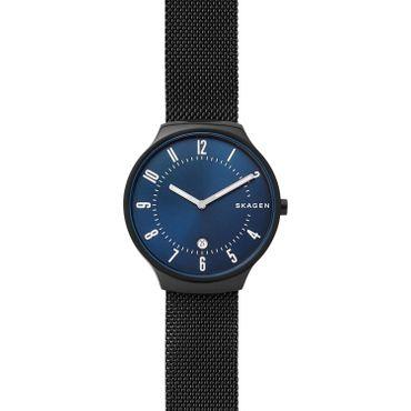 Skagen Herren-Armbanduhr Grenen Analog Quarz Edelstahl schwarz SKW6461