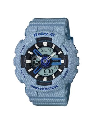 Casio Baby-G Damenuhr Analog-Digital Quarz mit Resin-Armband BA-110DE-2A2ER