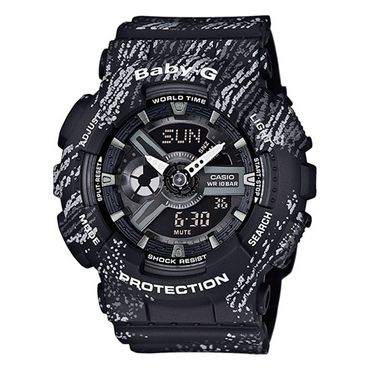 Casio Baby-G Damenuhr Analog-Digital Quarz mit Resin-Armband BA-110TX-1AER