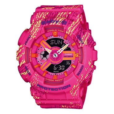 Casio Baby-G Damenuhr Analog-Digital Quarz mit Resin-Armband BA-110TX-4AER