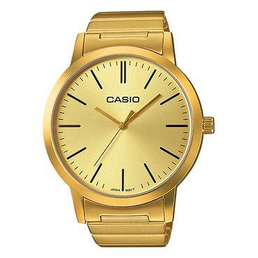 Casio Herrenuhr Analog Quarz mit Edelstahl Armband LTP-E118G-9AER