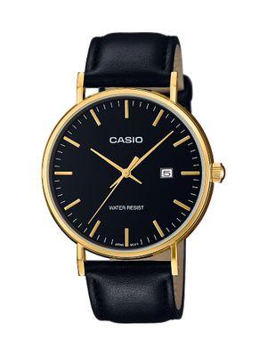 Casio Herrenuhr Analog Quarz mit Leder Armband MTH-1060GL-1AER