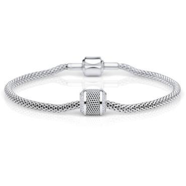 Bering Damen-Armband und Charm aus Edelstahl Charm-Set-58