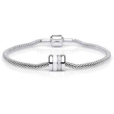 Bering Damen-Armband und Charm aus Edelstahl Shining Charm-Set-62