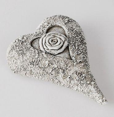 Deko-Herz aus Kunststein; ca. 15cm
