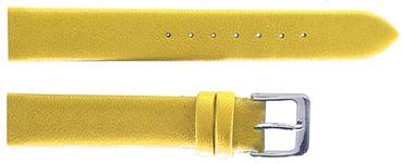 Graf Uhrenarmband zum Verschrauben Leder gelb 14mm