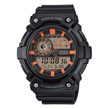 Casio Herren-Armbanduhr Analog/Digital Quarz mit Resin Armband AEQ-200W-1A2VEF