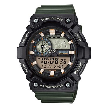 Casio Herren-Armbanduhr Analog/Digital Quarz mit Resin Armband AEQ-200W-3AVEF