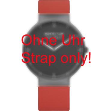 BERING Wechselband für Max René Uhr 15540-XXX (groß) Silikon rot