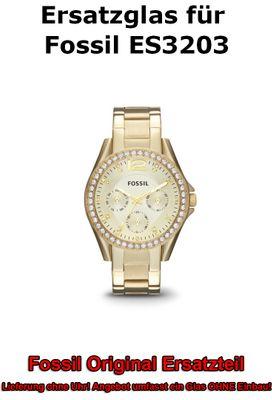 Ersatzglas für Fossil-Uhr Riley ES3203 ES3202 original Uhrenglas
