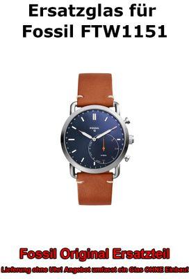 Ersatzglas für Fossil-Uhr Q Commuter FTW1151 original Uhrenglas