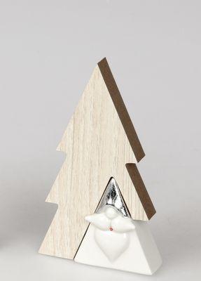 Formano Deko-Baum mit Santa, ca. 9x15cm
