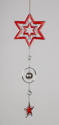 Formano Hänger Stern rot, ca. 16x46cm