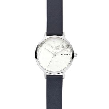 Skagen Damen-Armbanduhr Anita Analog Quarz Leder blau SKW2719