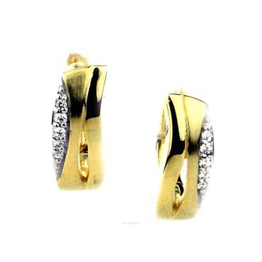 Damen Ohringe aus 925 Sterling Silber mit Zirkonia vergoldet