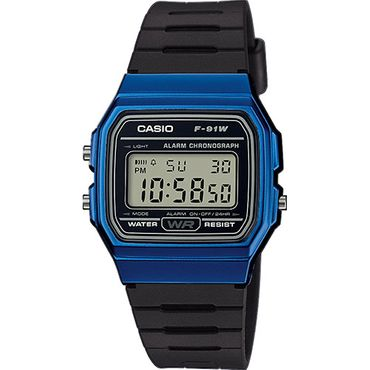 Casio Herren-Armbanduhr Digital Quarz F-91WM-2AEF