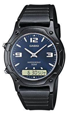 Casio Herren-Armbanduhr Analog-Digital Quarz AW-49HE-2AVEF
