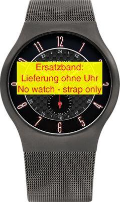 Bering original Ersatzband Edelstahl-Mesh Milanaise grau für 51940-077
