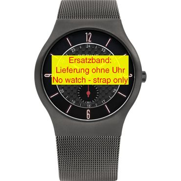 Bering original Ersatzband Edelstahl-Mesh Milanaise grau für 11940-377-1