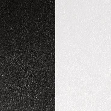 Les Georgettes Ledereinsatz für Armreifen schwarz / weiß