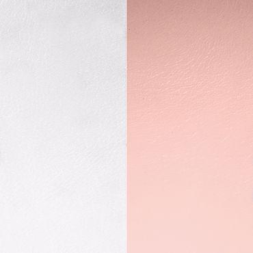 Les Georgettes Ledereinsatz für Armreifen hellrosa / hellgrau