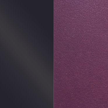 Les Georgettes Ledereinsatz für Armreifen schwarz leuchtend / dunkelviolett